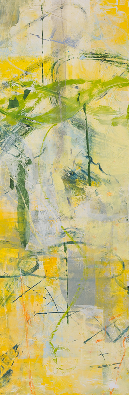 Symbiosis 1 12 x 36 oil on wood 2015. SOLD
